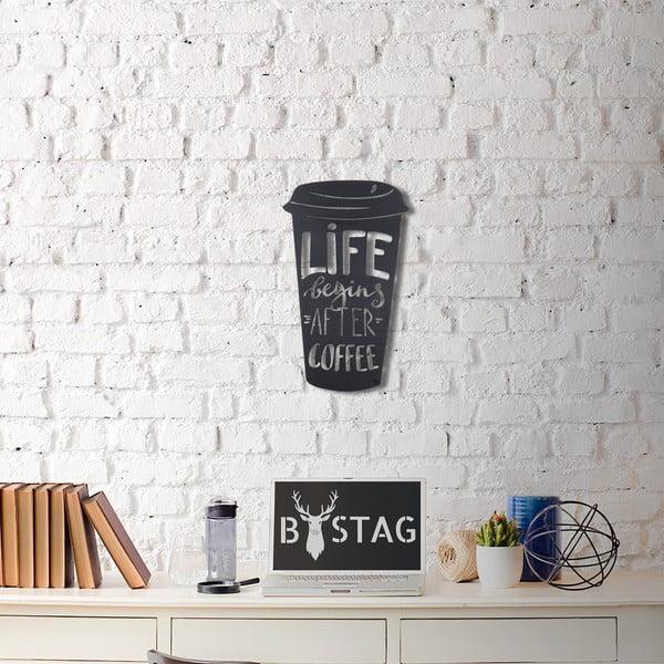 Metalowa dekoracja ścienna Coffee, 50x30 cm