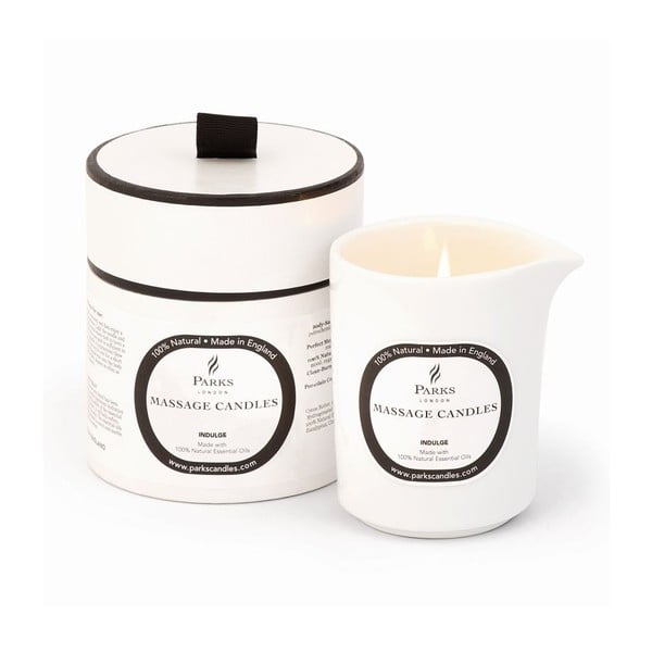 Świeczka do masażu o zapachu róży, paczuli i ylang ylang Parks Candles London Indulge/Soothing, 50 h