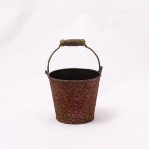 Hnědý plechový obal na květináč Dakls III