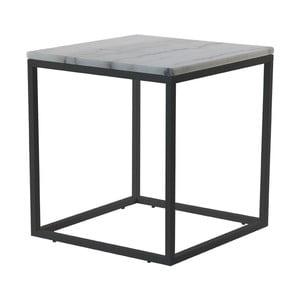 Mramorový konferenční stolek s černou konstrukcí RGE Accent, 55x55cm