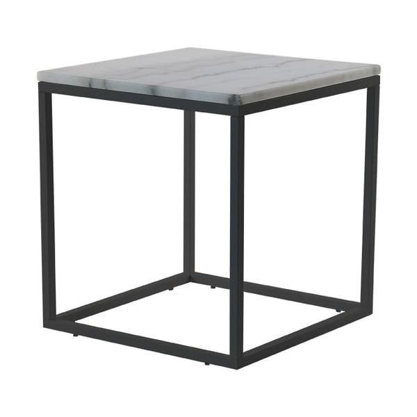 Mramorový konferenční stolek s černou konstrukcí RGE Accent, šířka55cm