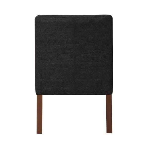 Antracitově šedá židle s tmavě hnědými nohami z bukového dřeva Ted Lapidus Maison Freesia