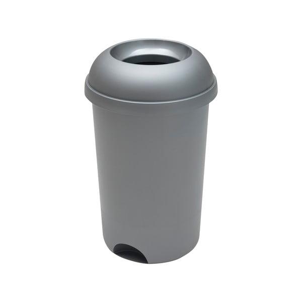 Coș rotund de gunoi cu capac deschis Addis, înălțime 65 cm, gri