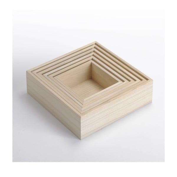 Dřevěný box Caisses 6 v 1