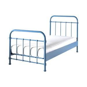 Modrá kovová dětská postel Vipack New York, 90x200cm