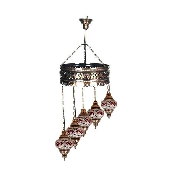 Skleněná ručně vyrobená lampa Loren, ⌀13 cm