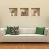 3D samolepky na zeď Nisha Love Home