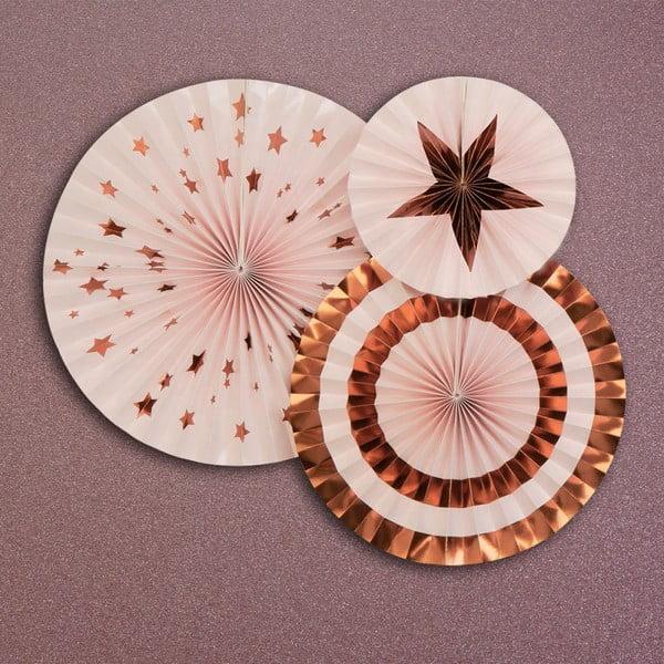 Sada 3 růžových dekorací Neviti Glitz & Glamour