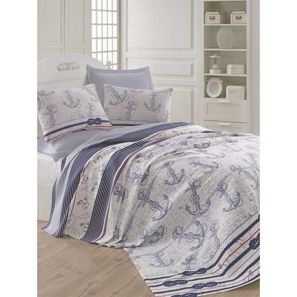 Cuvertură subțire pentru pat Capa Blue, 200 x 235 cm