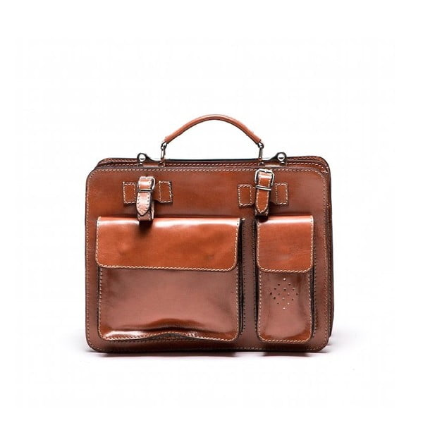 Kožená kabelka Luisa Vanini 305 Cognac