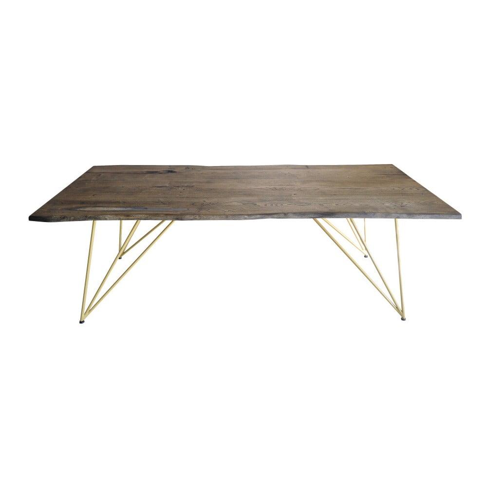 Jídelní stůl s deskou z masivního akáciového dřeva FLAME furniture Inc. Amber, 100 x 220 cm