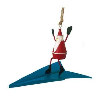 Decorațiune suspendată pentru Crăciun G-Bork Santa on Airplane imagine