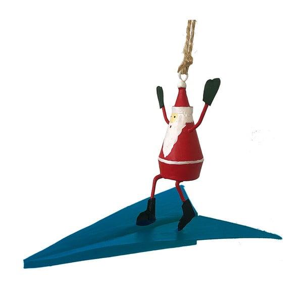 Decorațiune suspendată pentru Crăciun G-Bork Santa on Airplane