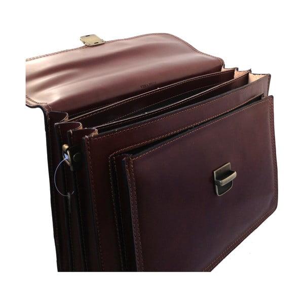 Kožená kabelka/kufřík Primitivo, čokoládová
