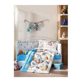Set de pat din bumbac pentru copii Uzay Oyunu Blue, 100 x 170 cm imagine