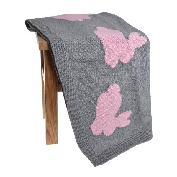 Dětská deka Rabbit Pink, 80x100 cm