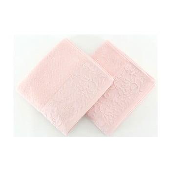 Set 2 prosoape Burumcuk, 50 x 90 cm, roz deschis imagine
