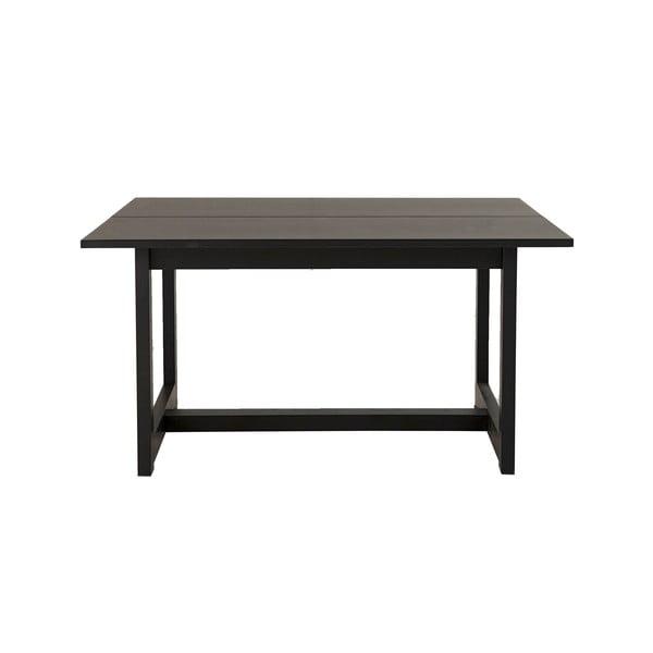 Czarny stolik z drewna dębowego Canett Binley, 120x75 cm