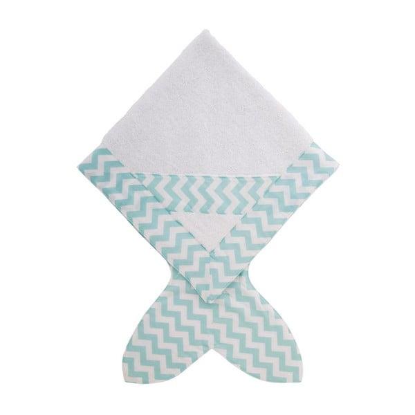 Dětský ručník Fish Mint, 80x 80 cm