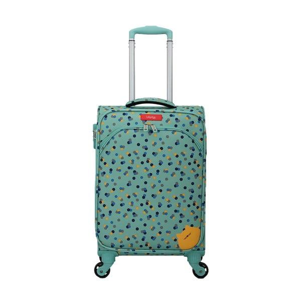 Tyrkysově modré zavazadlo na 4 kolečkách Lollipops Rubby
