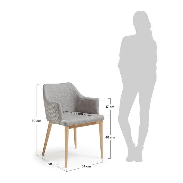 Světle šedá jídelní židle La Forma Danai