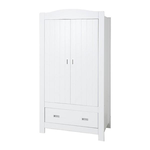 Biała szafa 2-drzwiowa BELLAMY Fino