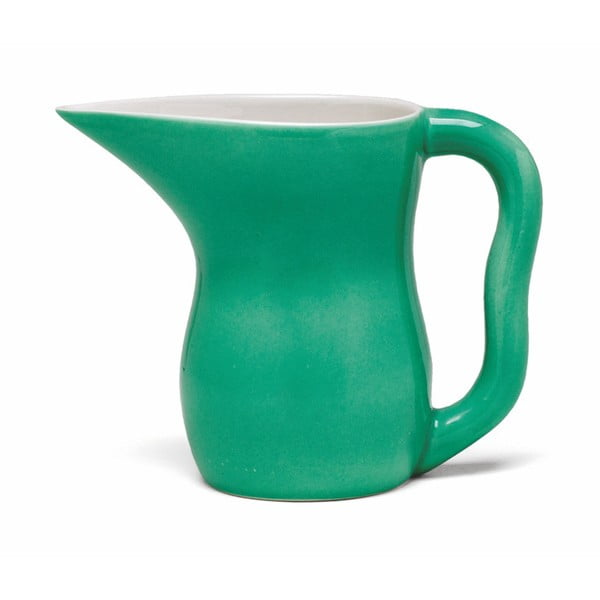 Tmavozelená kameninová nádoba na mlieko Kähler Design Ursula, 800 ml