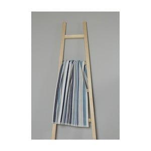 Modrý pruhovaný bavlněný ručník My Home Plus Spa, 50 x 90 cm