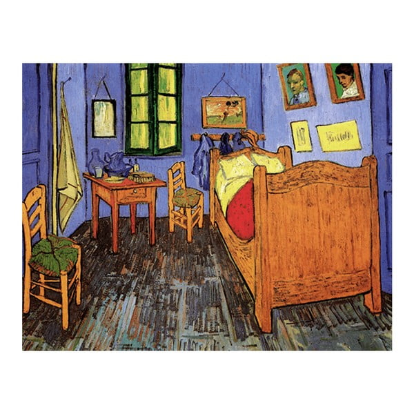 Obraz Vincenta van Gogha - Vincent's Bedroom in Arles, 90x70 cm
