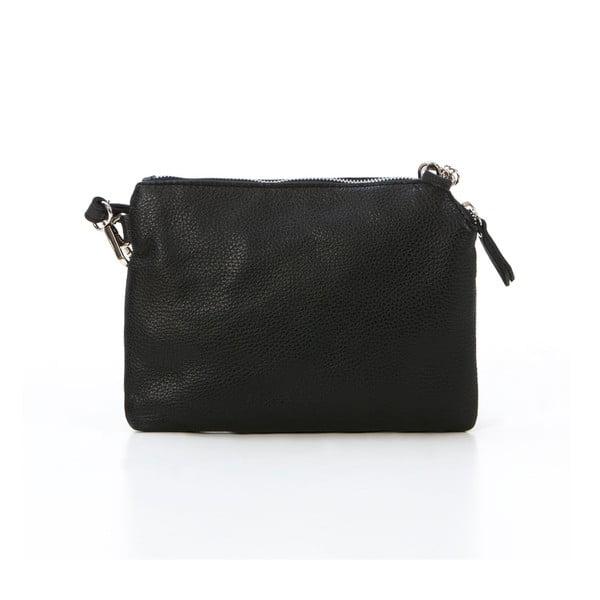 Kožená kabelka Alberto, černá