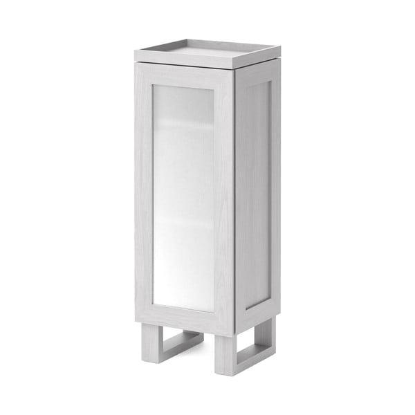 Biela kúpeľňová skrinka z dubového dreva Wireworks Mezza