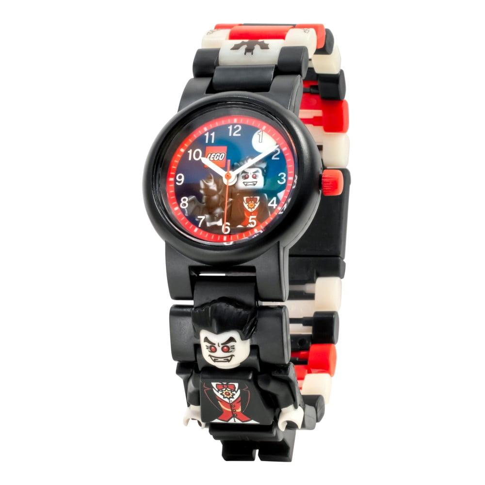 Černé náramkové hodinky se skládacím řemínkem a minifigurkou LEGO® Vampire