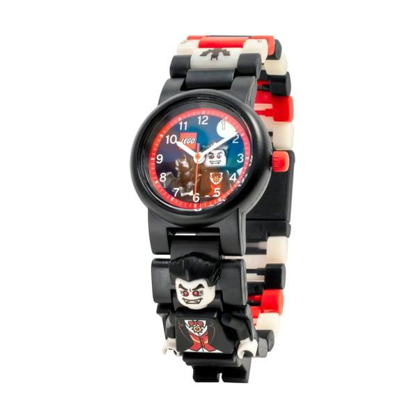 Ceas de mână cu curea pliabilă și minifigurină LEGO® Vampire, negru