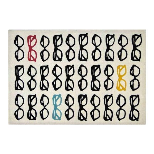 Vlněný koberec Foot Specs, 121x182 cm