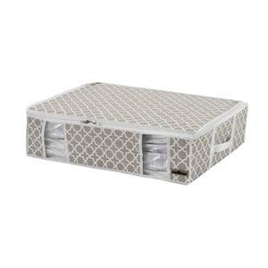 Bílo-béžový úložný box Compactor Compactino, 65 x 50 x 15,5 cm