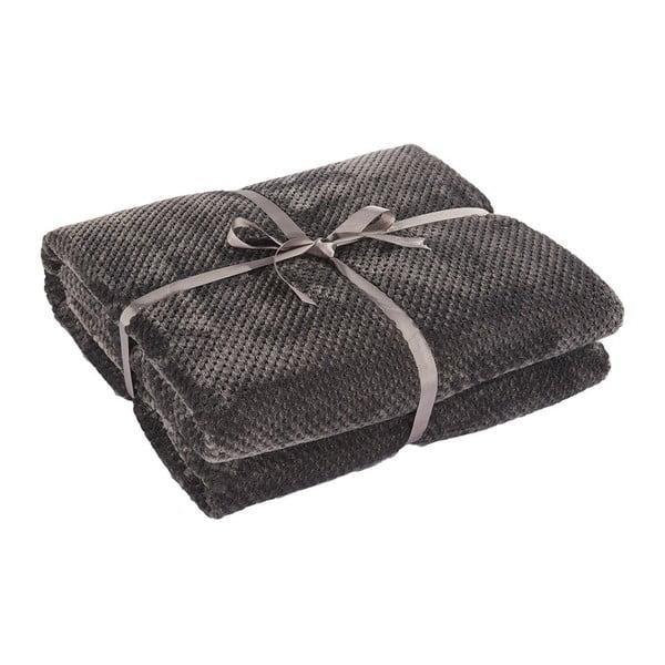 Henry sötétszürke mikroszálas takaró, 200 x 150 cm - DecoKing