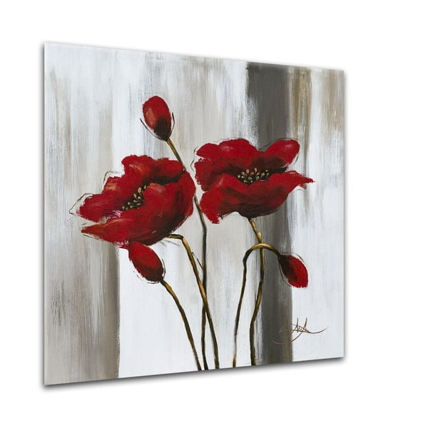Tablou Styler Glasspik Flower C, 20 x 20 cm
