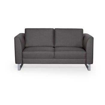 Canapea cu 2 locuri Softnord Geneve gri antracit