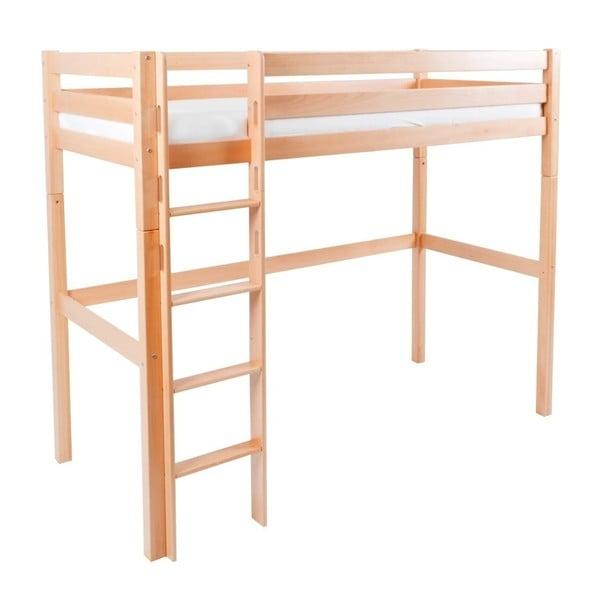 Dětská patrová postel z masivního bukového dřeva Mobi furniture Luis, 200x90cm