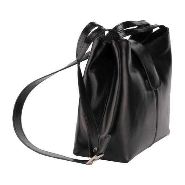 Kožená kabelka Kiwi, černá