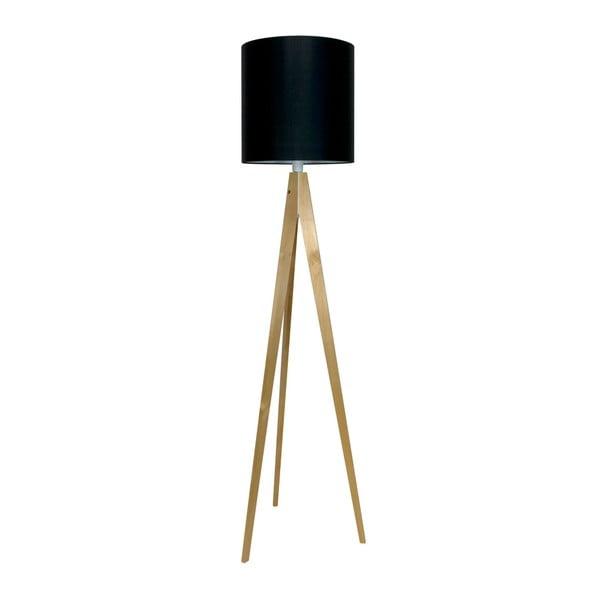 Černá stojací lampa 4room Artist, bříza, 158 cm