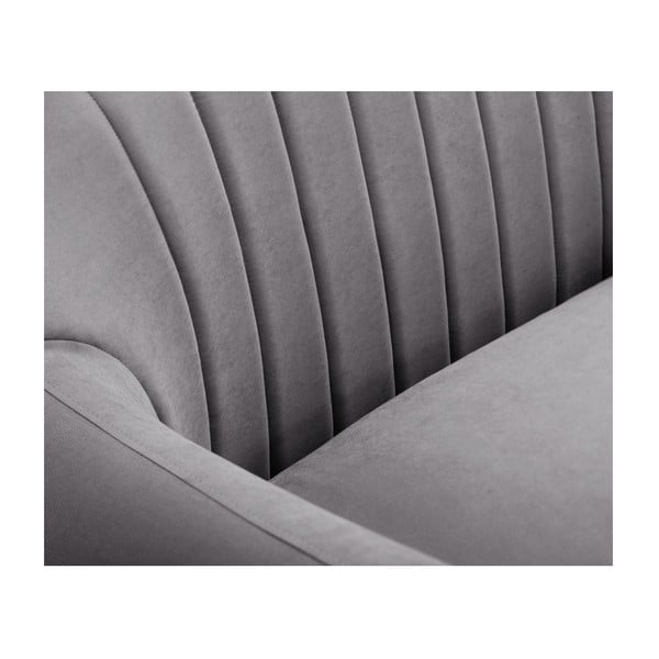 Colțar cu șezlong pe partea dreaptă Scandi by Stella Cadente Maison Comete, gri închis
