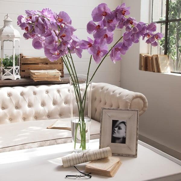 Set fialových dekorativních kvítků, 6 ks