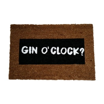 Covoraș intrare din fibre de cocos Artsy Doormats Gin O'Clock Glitter, 40 x 60 cm imagine