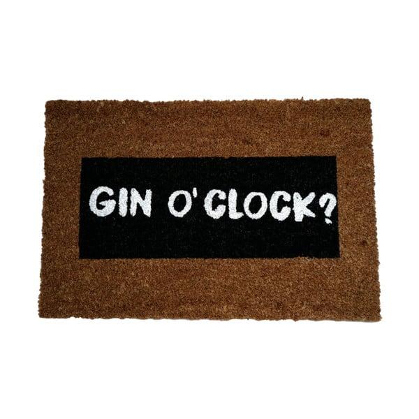 Rohožka z přírodního kokosového vlákna Artsy Doormats Gin O'Clock Glitter,40x60cm
