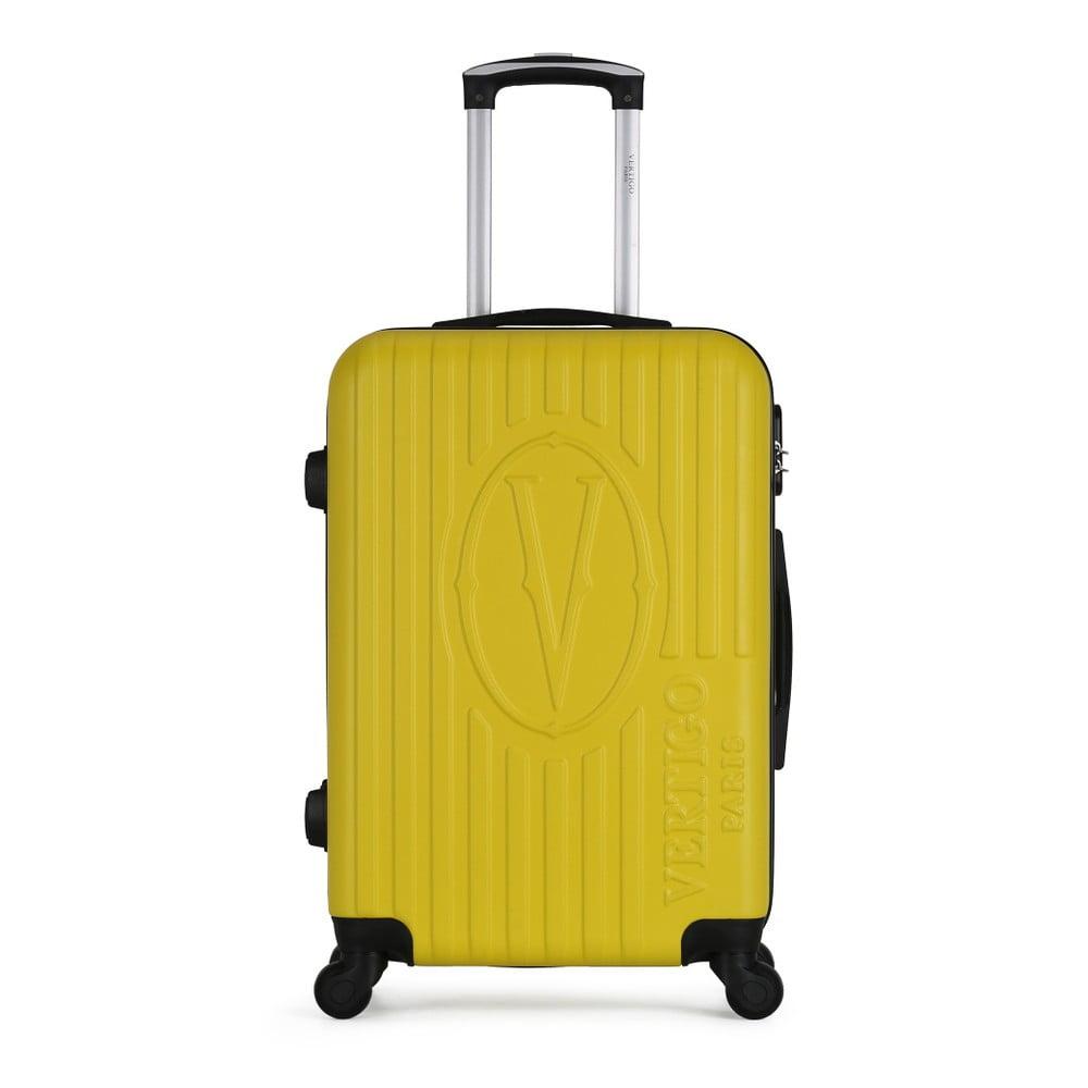 Žlutý cestovní kufr na kolečkách VERTIGO Valise Grand Cadenas Integre Malo, 41 x 62 cm