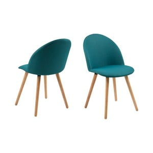 Set 2 scaune Actona Manley, albastru