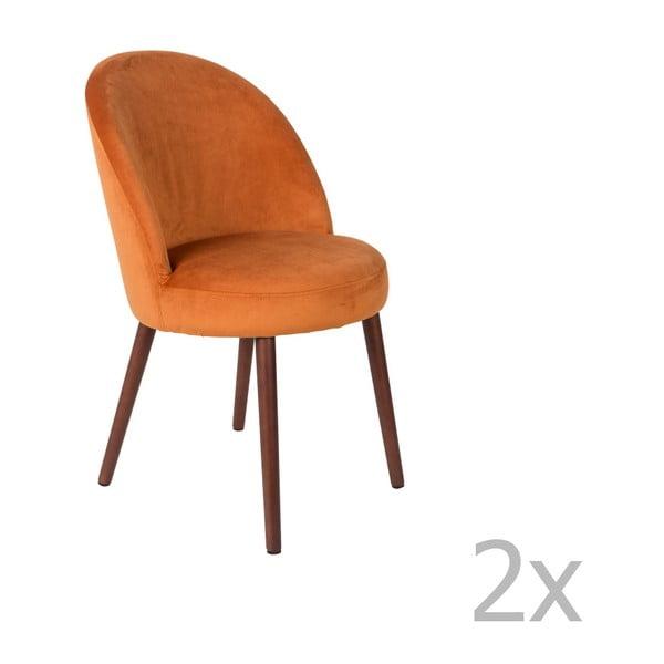 Sada 2 oranžových stoličiek Dutchbone Barbara