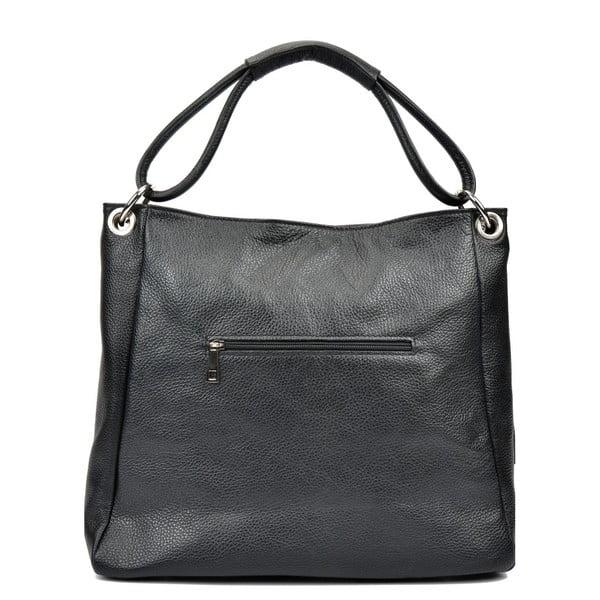 Černá kožená kabelka Anna Luchini Srumla