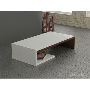 Kávový stůl Bend, bílo-wenge